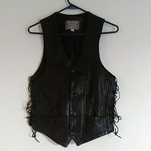 Woman's leather vest